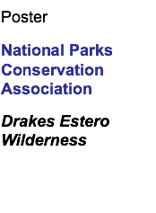 Poster National Parks Conservation Association Drakes Estero Wilderness