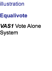 illustration Equalivote VAS1 Vote Alone System